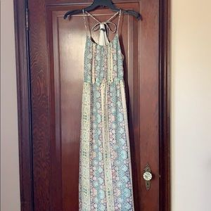 AE maxi dress with adjustable tie back size s